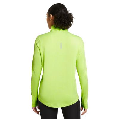 Nike Element para mujer Media cremallera camiseta de running - SP21