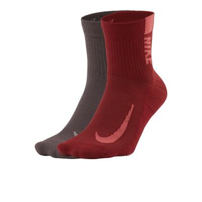 Nike Multiplier laufen Ankle socken (2 Pair) - SU21