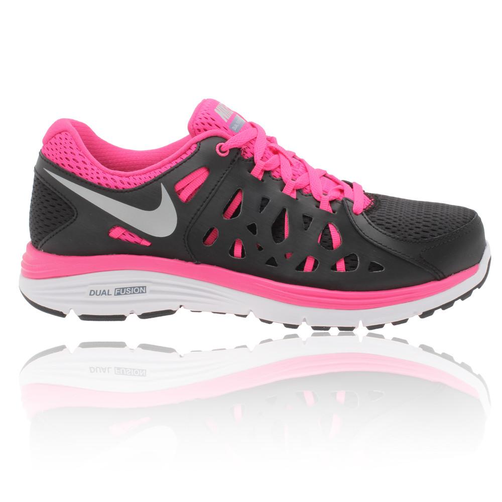 Nike Women S Dual Fusion X  Running Shoes Gris Pink