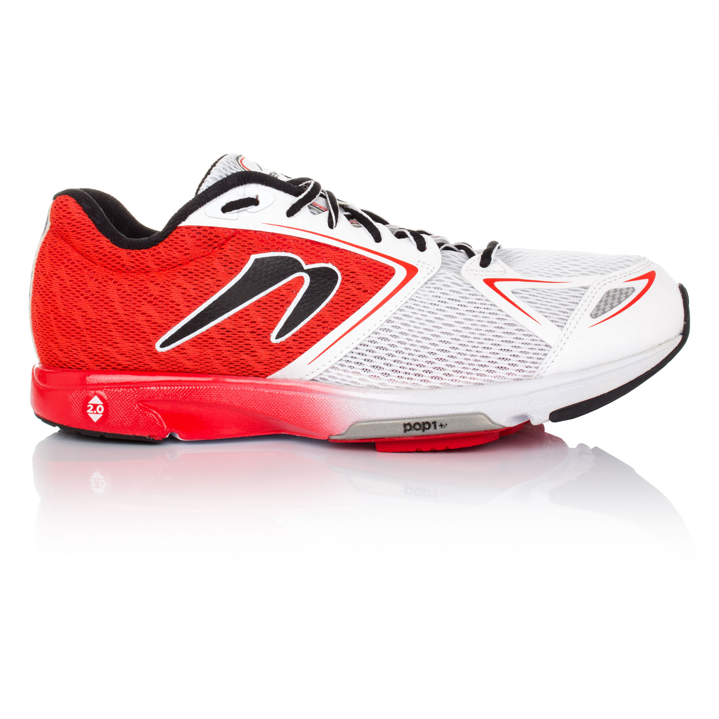 Newton Distance VI Mens White Red Cushioned Running Sports Shoes Trainers