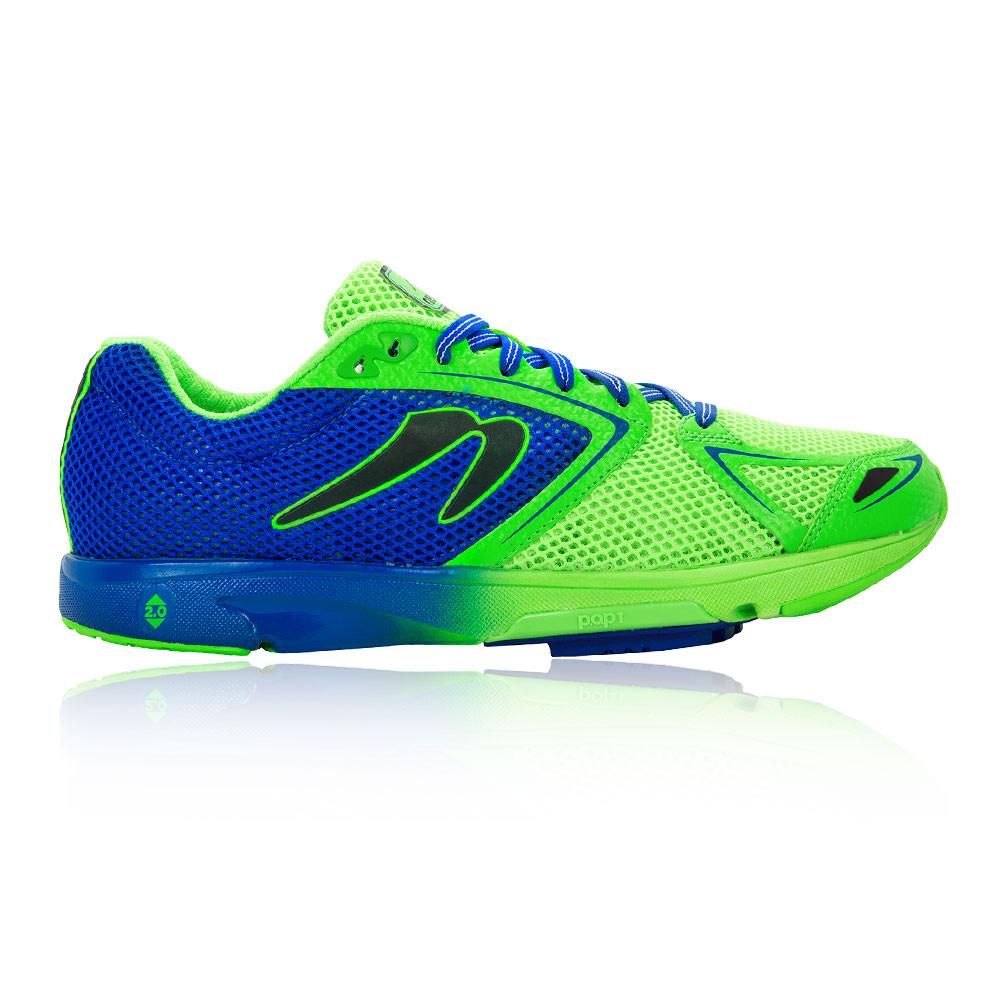 Detalles de Newton Hombre Distance VII Correr Zapatos Verde Deporte Transpirable Reflexivo