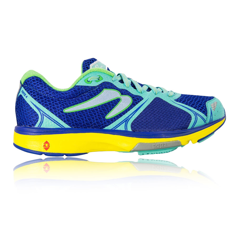bcc96da64cfcc Details about Newton Womens Fate IV Running Shoe Blue Yellow Breathable  Reflective Trainers