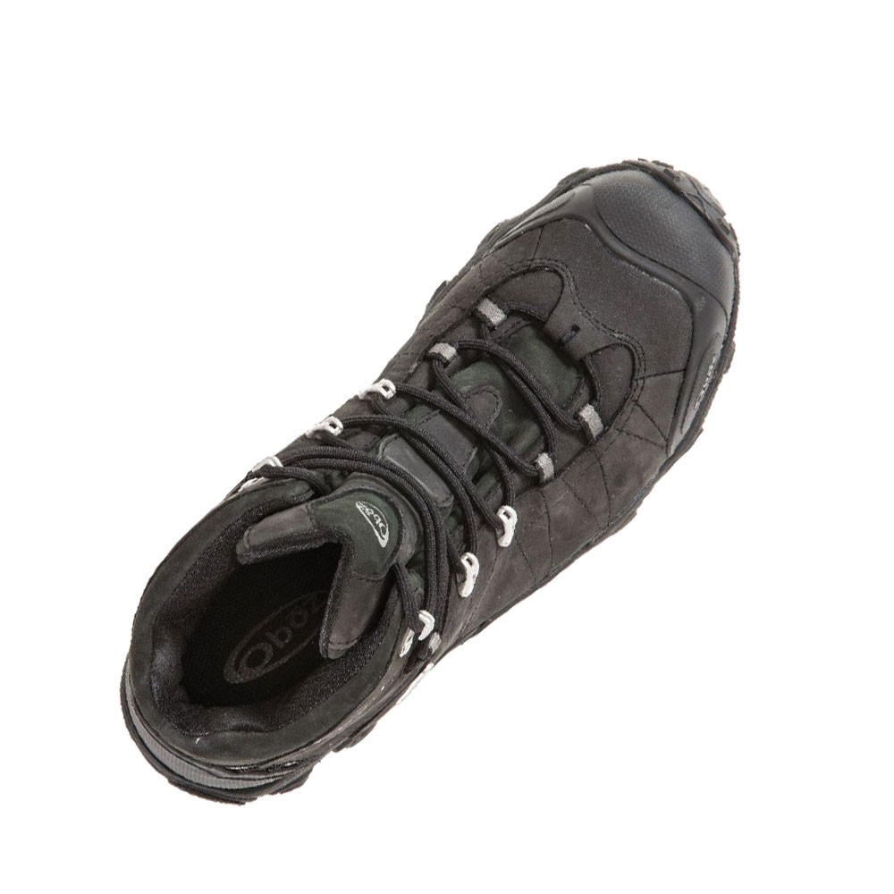 1297cbb54df141 Oboz Bridger Mid Bdry Mens Black Waterproof Walking Outdoors Boots ...