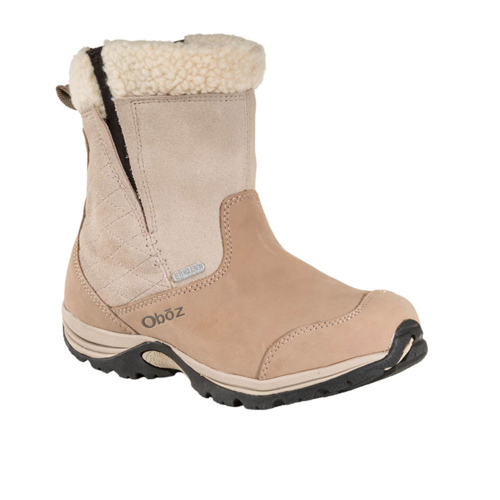 Womens Beige Waterproof Hiking Shoes