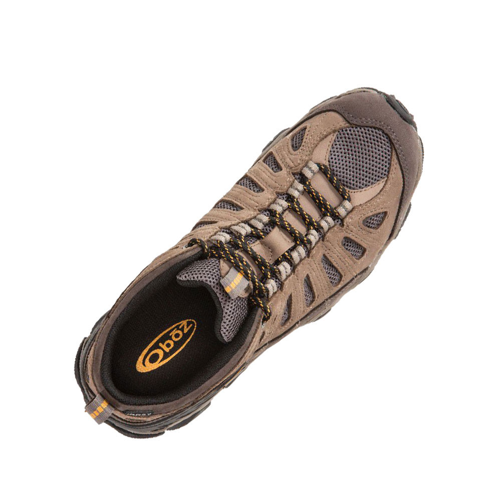 Oboz Sawtooth Low Bdry Mens Brown Walking Outdoors Sports Shoes Trainers
