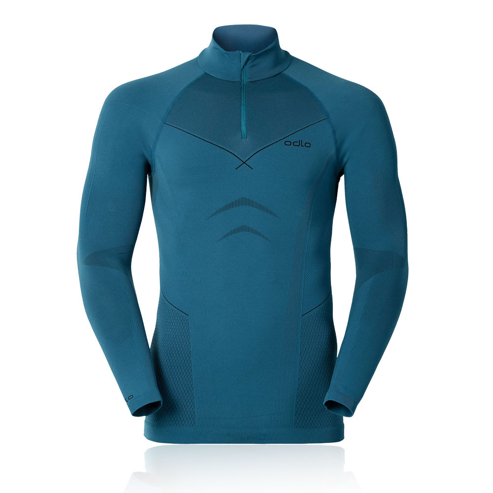 Odlo Evolution Warm Long Sleeve Half Zip Running Top
