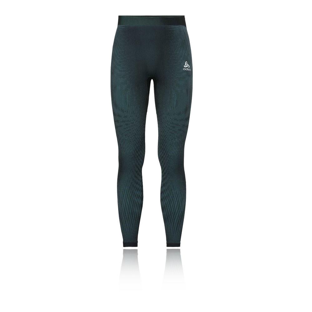 1a6836331a9 Odlo Mens Futureskin Warm Leggings Bottoms Pants Trousers Black Green Sports