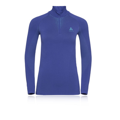 Odlo Performance Warm Bl Half-Zip Turtle Neck Women's Top - AW19