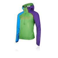 OMM Hommes Kamleika Veste Top Green Sports Running Zip Complet Imperméable à Capuche