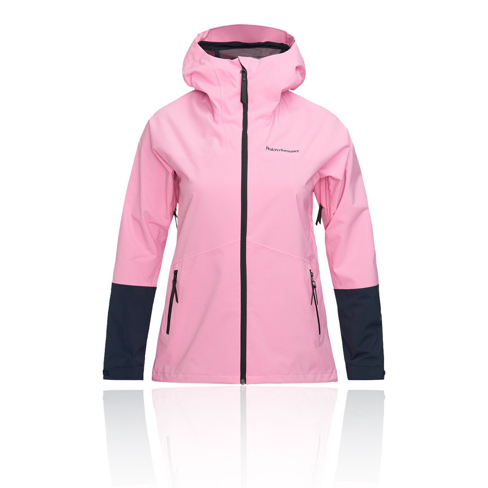 Asics Core Womens Running Jacket Pink Windproof Waterproof Outdoors