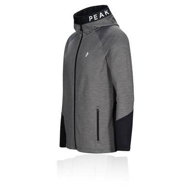 Peak Performance Rider Melange Zip Hooded Jacket - AW19