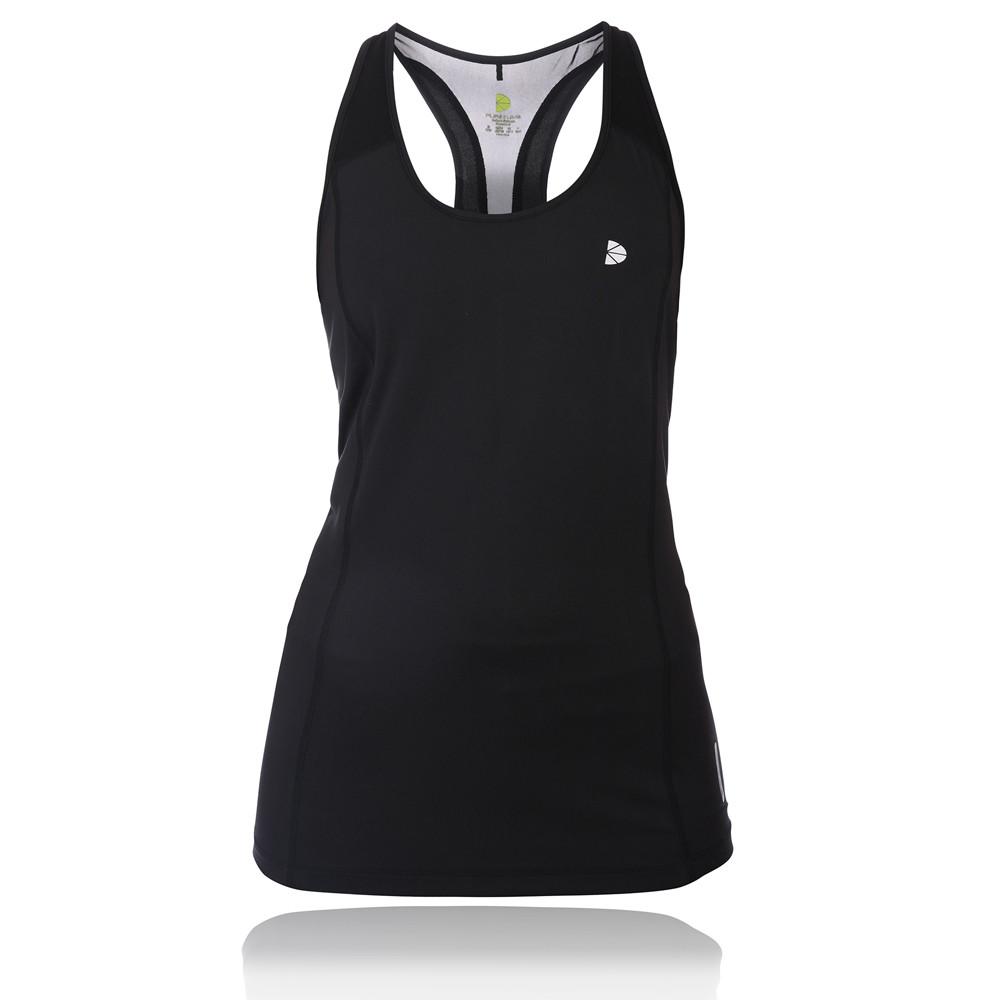 Pure-Lime-Hydro-Cut-Womens-Black-Racerback-Running-Gym-Sports-Vest-Tank-Top