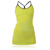 Pure Lime Women's Strappy Flower Tank Top