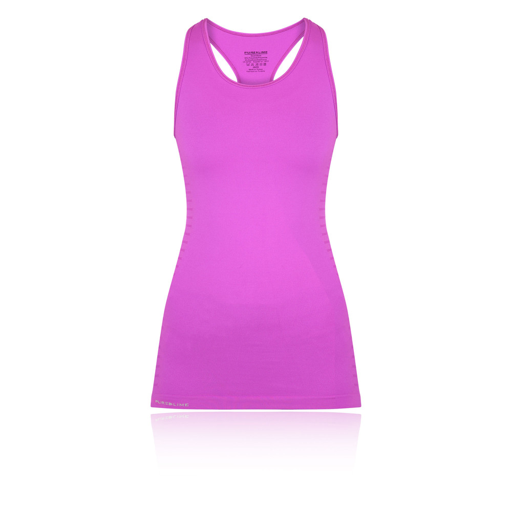e27b1e31c6 Details about Pure Lime Seamless Womens Pink Sleeveless Sports Vest Tank  Top Singlet