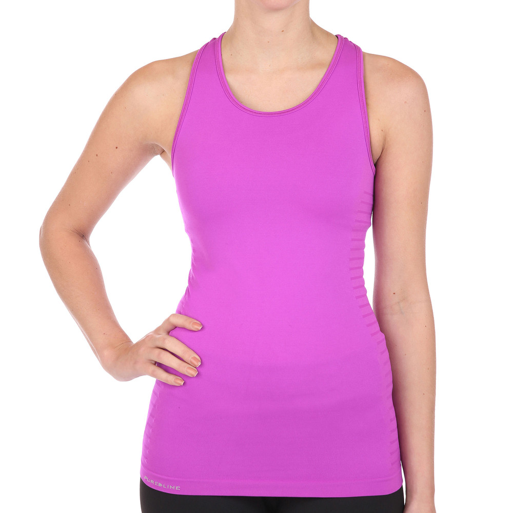15138c16ea Pure Lime Seamless Womens Pink Sleeveless Sports Vest Tank Top Singlet
