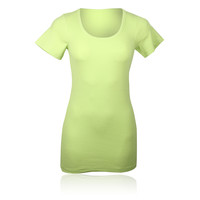 Camiseta Running De Mujer Pure Lime Lady Ribbed