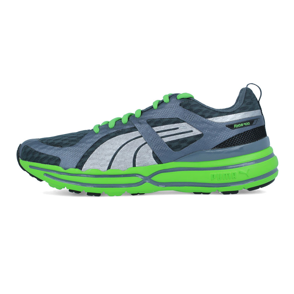 Puma FAAS 900 Mens Grey Green Cushioned Lightweight Road Running Shoes  Trainers da5926a750c