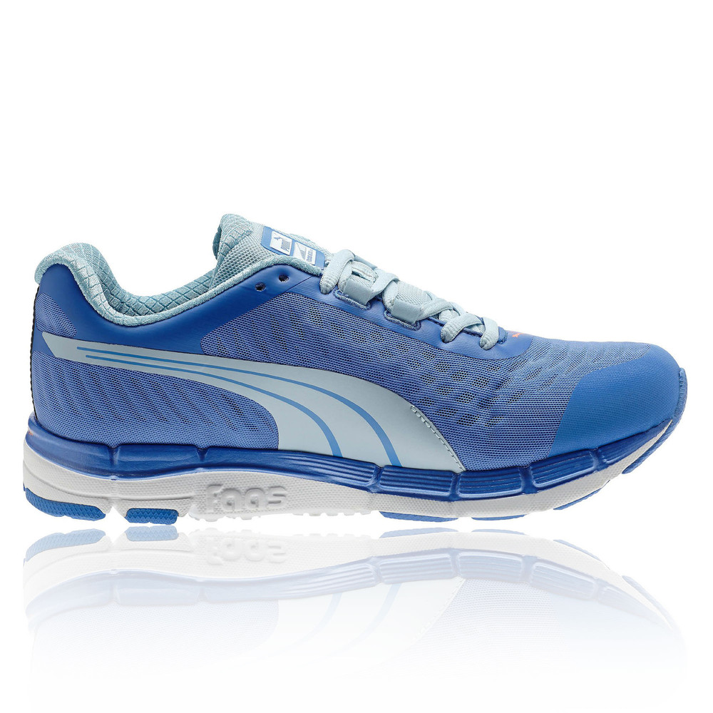 Puma Faas 600 v2 Womens Blue Cushioned Running Training Shoes Trainers  Sneakers 0678c4e1e