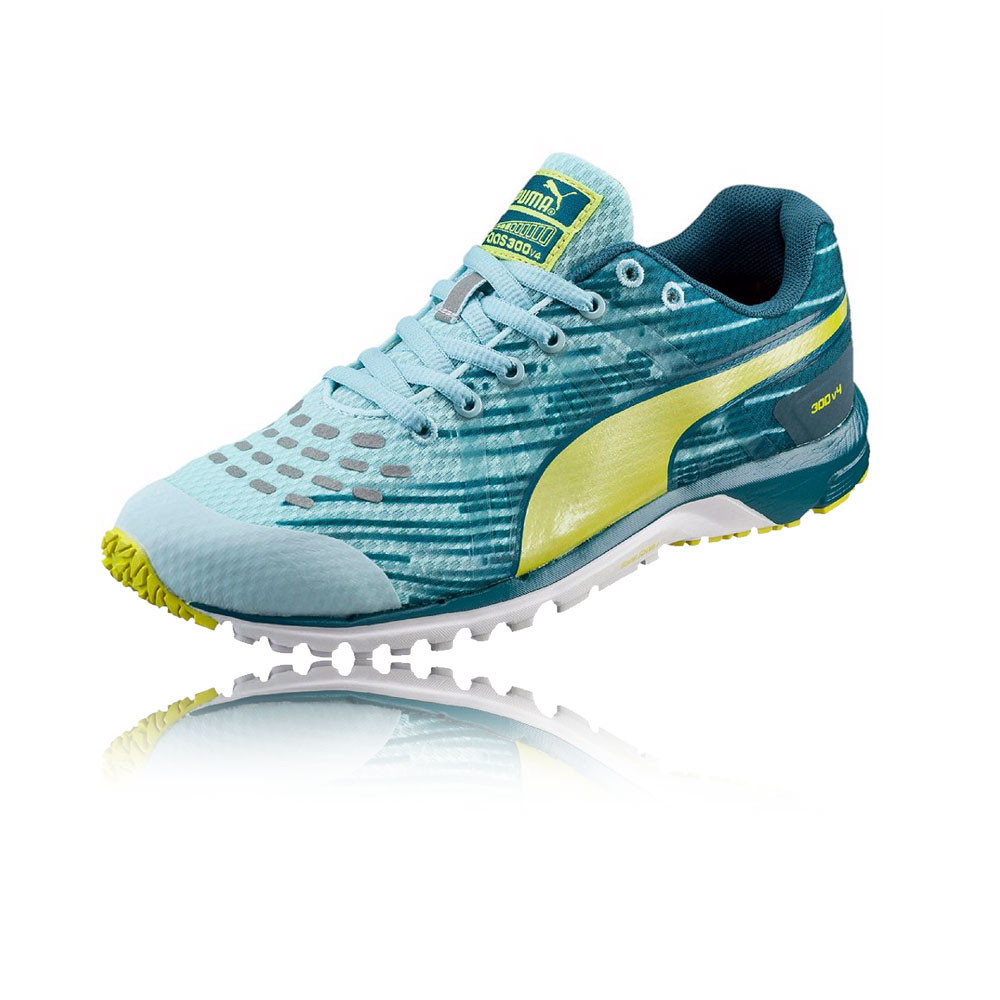 153a558ad214 Details about Puma Faas 300 v4 Womens Blue Green Cushioned Running Sports  Shoes Trainers