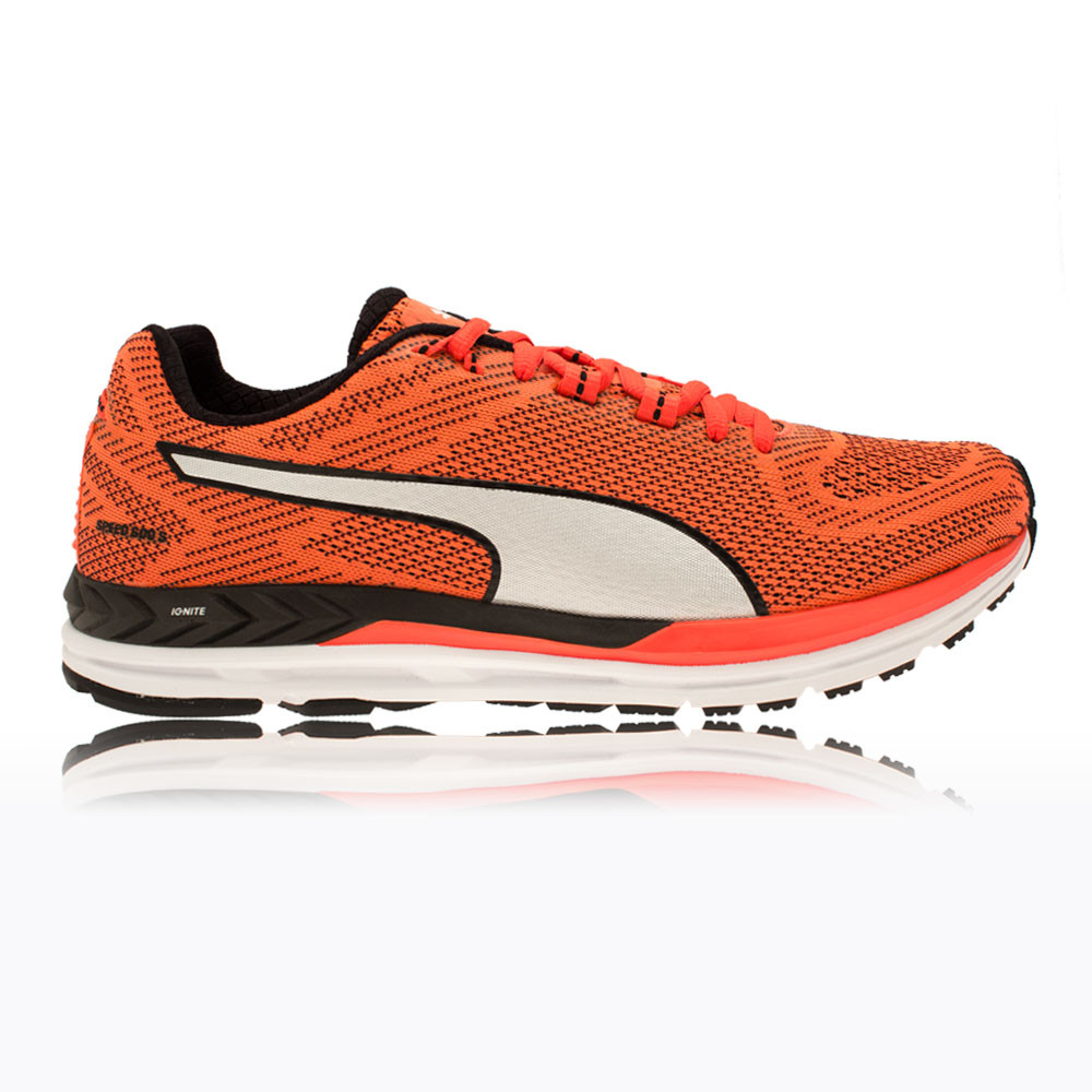 Puma Speed 600 Ignite S Mens Orange Black Support Running Shoes Trainers 541429809