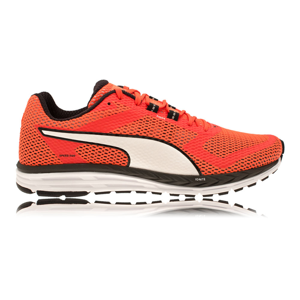 e1d65b6bbbf Puma Speed 500 Ignite Mens Red Black Cushioned Running Road Shoes Trainers