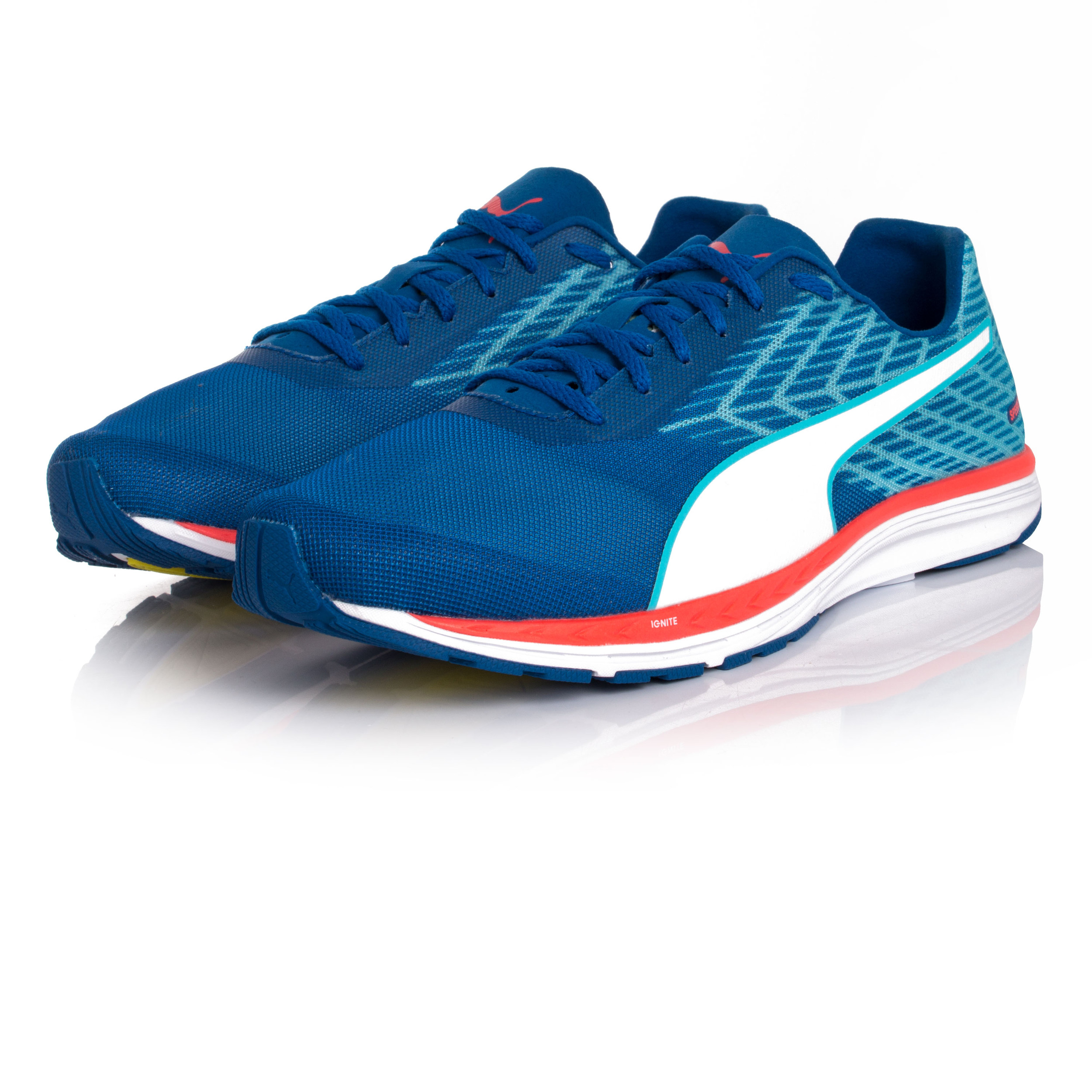 Puma Speed 100 Ignite R Mens Blue Running Road Sports Shoes Trainers Pumps