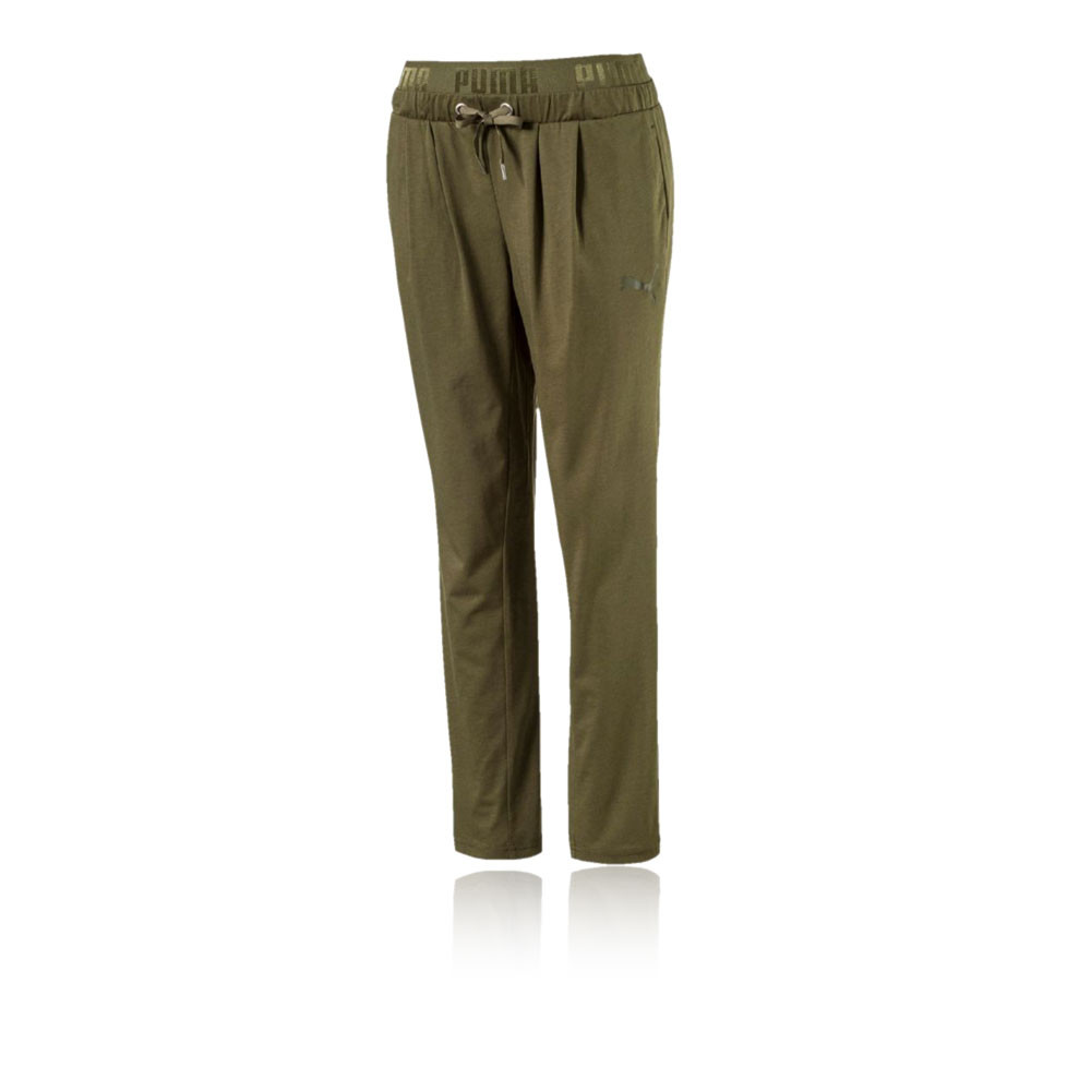746e08f639406d Puma Active Essentials Banded Drapey Womens Green Training Long Pants  Bottoms