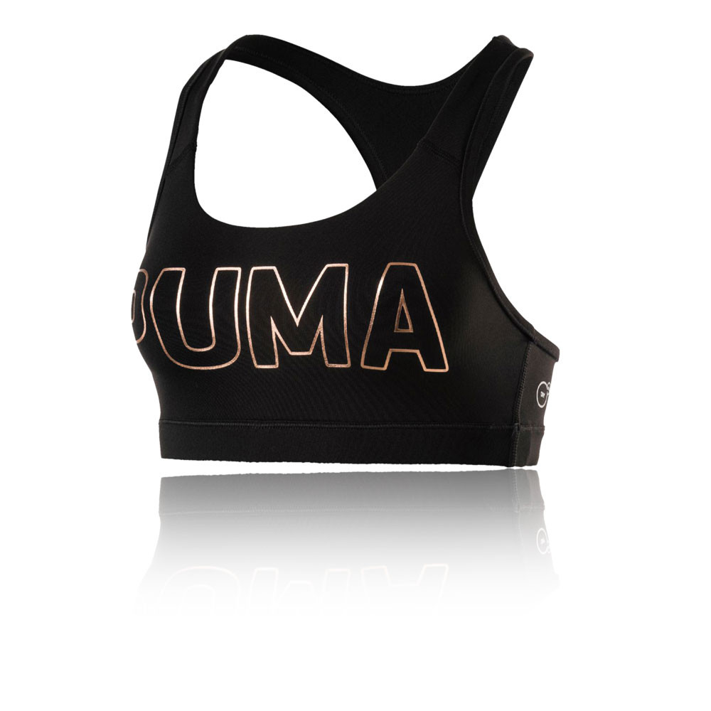 Puma PWRSHAPE Forever Womens Black Running Sports Bra Support Top  54852d33fe8ff