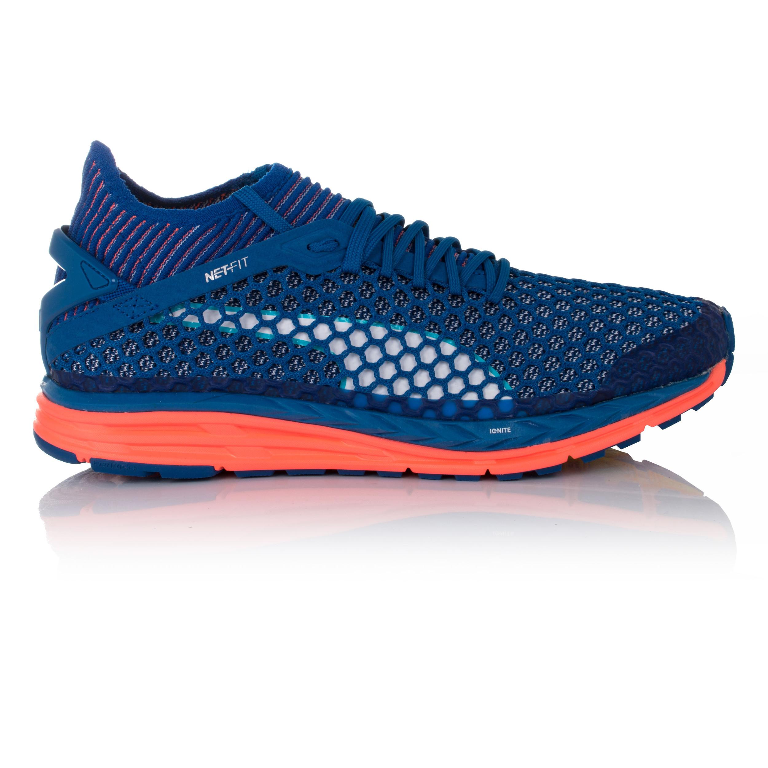 Puma Speed Ignite netfit Da Donna Blu Imbottite Corsa Scarpe da ginnastica scarpe sportive