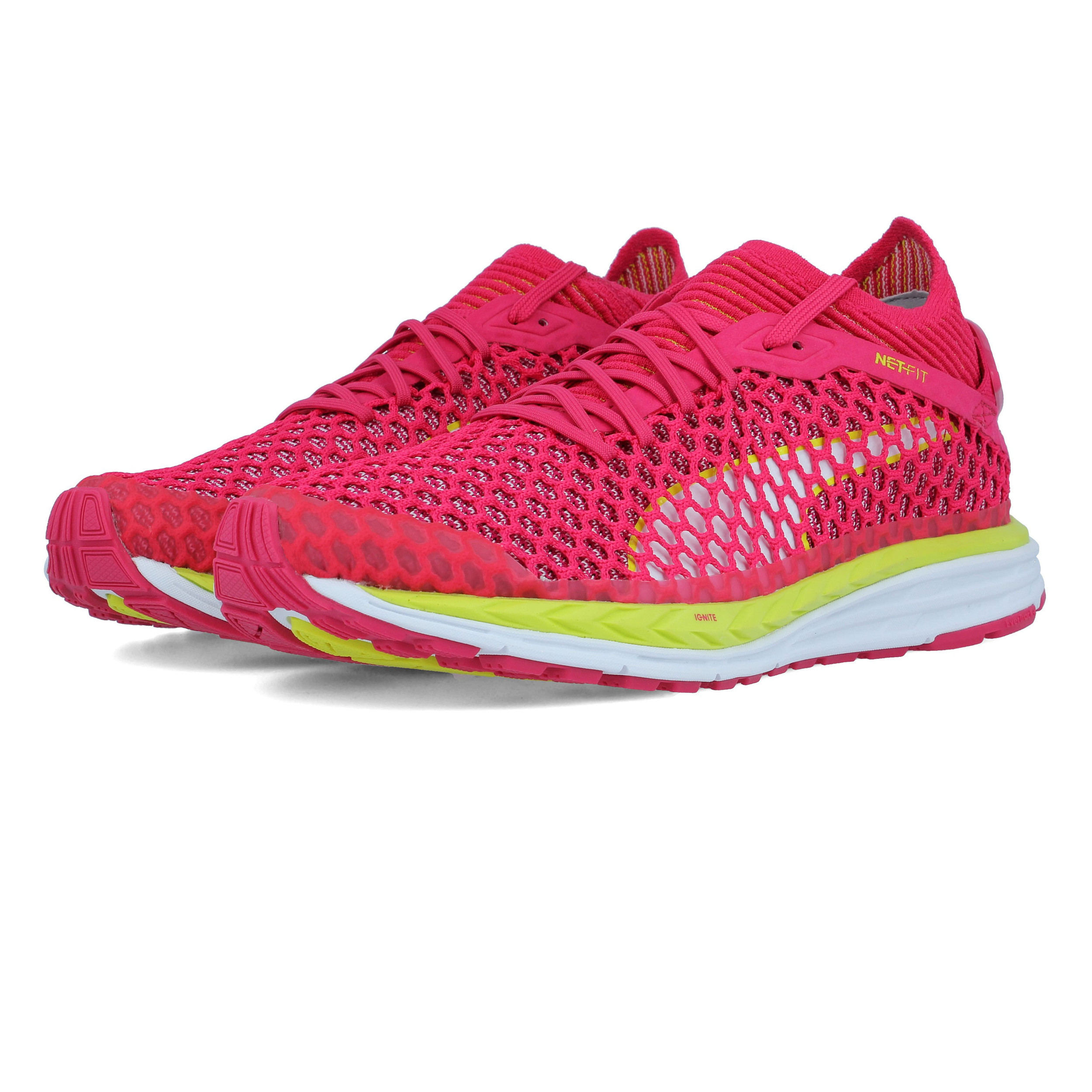 1f4f5db85f9 Details about Puma Womens Speed IGNITE Netfit Running Shoes Trainers  Sneakers Pink White