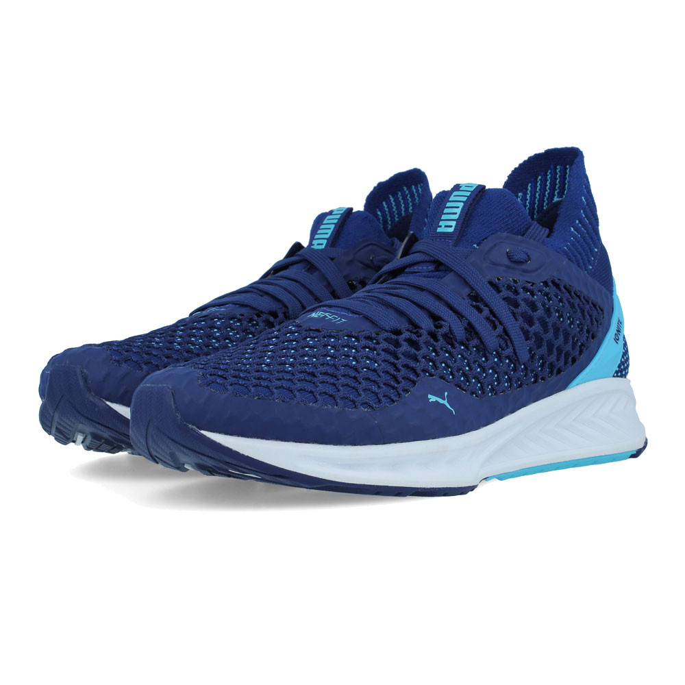 Puma Womens IGNITE NETFIT Running Shoe Blue Breathable Lightweight Trainers df8e9e1c1