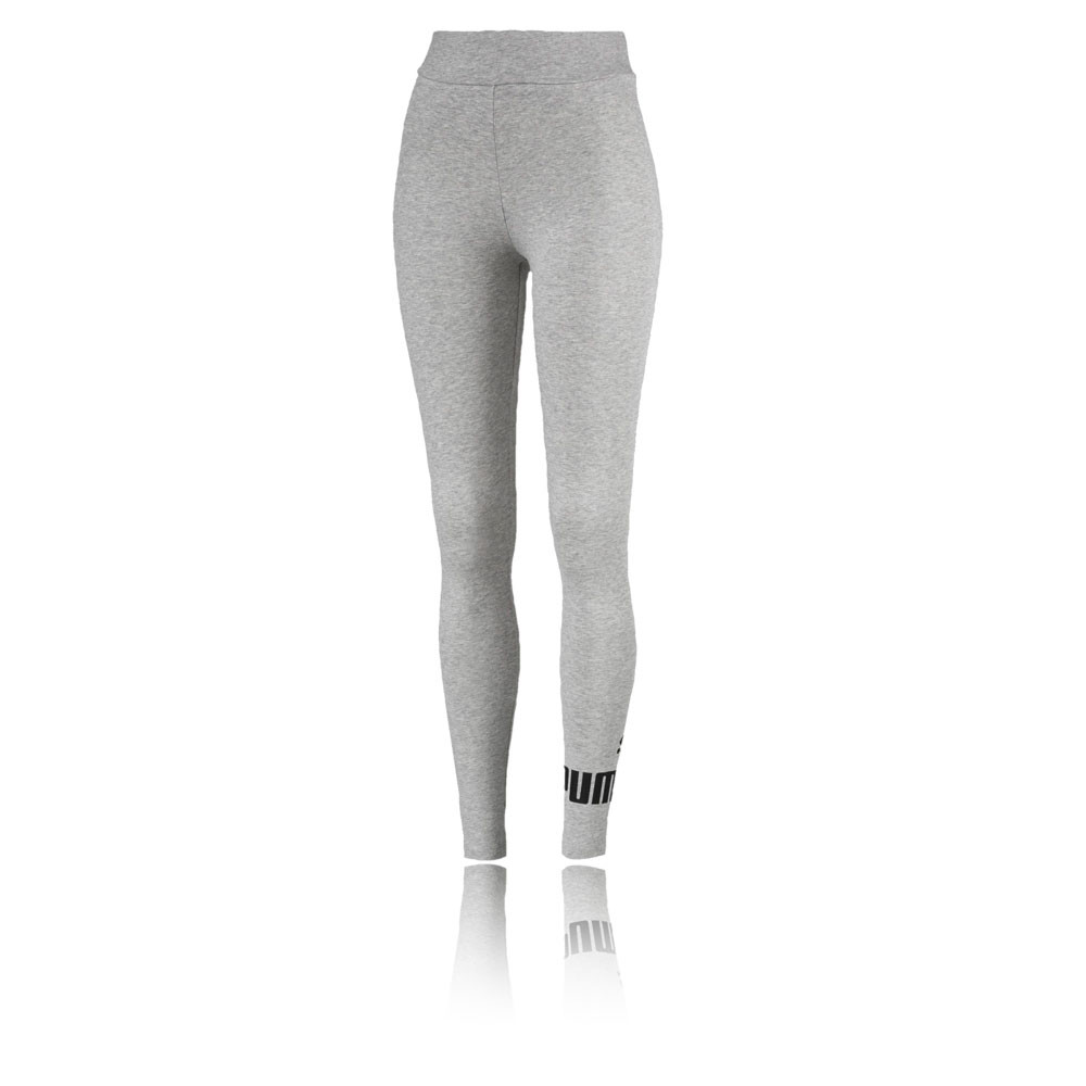 e2d5f5cf1bbae Details about Puma Womens Essentials Logo Leggings Bottoms Pants Trousers  Grey Sports Gym