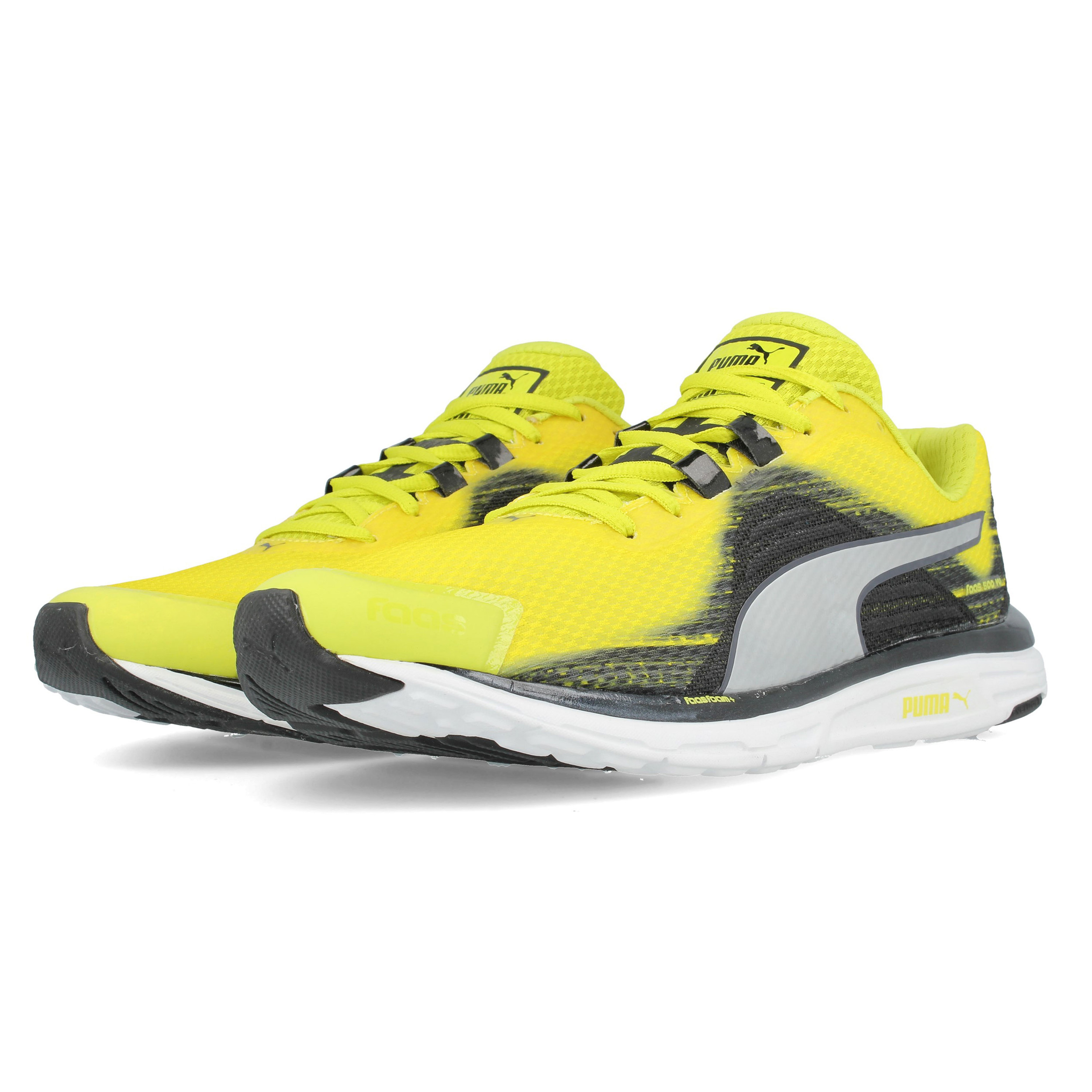 Puma Mens Faas 500v4 Running Shoes Trainers Sneakers Yellow Sports  Breathable 6878c1455bc