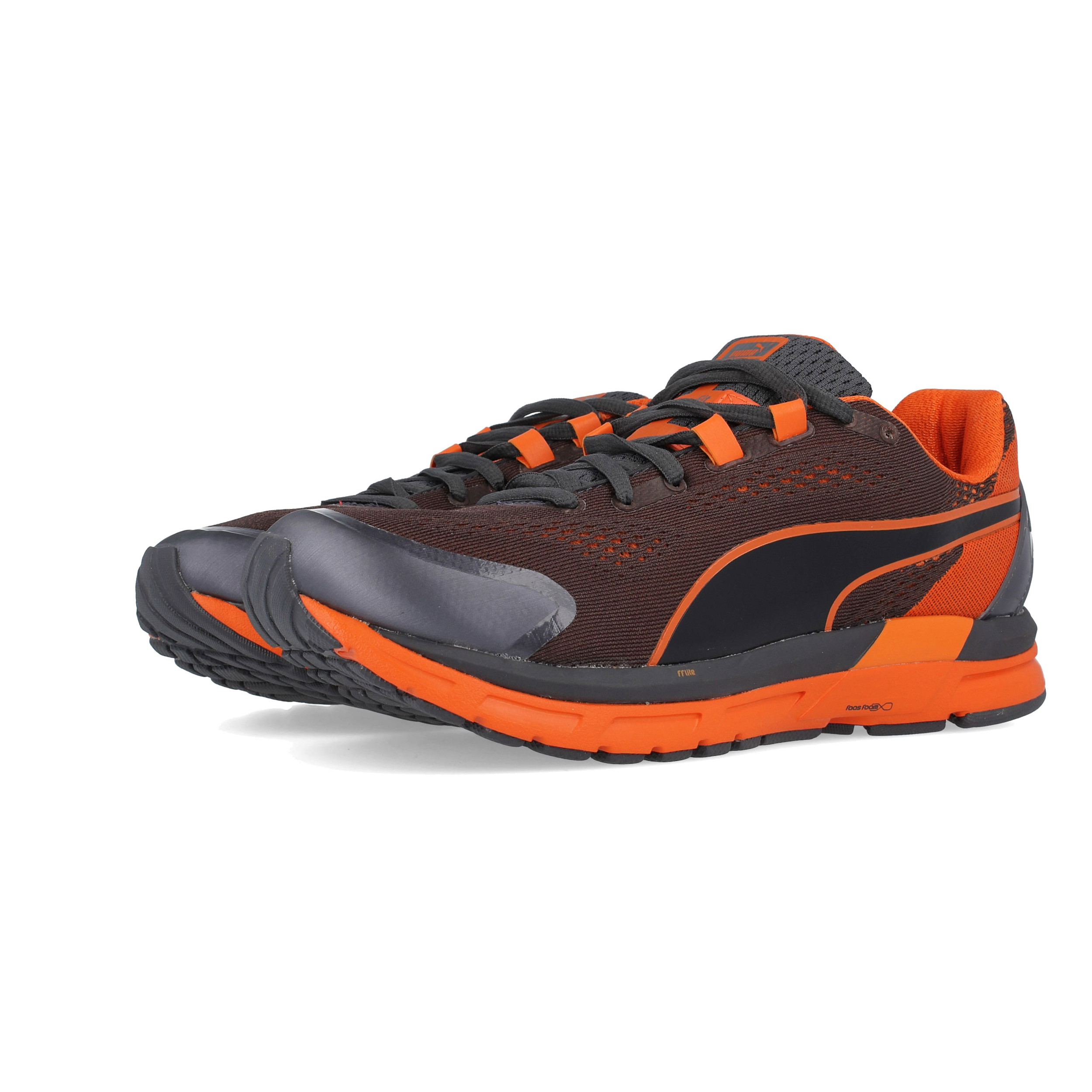 6c477a70a5 Puma Hombre Faas 600 S V2 Correr Zapatos Zapatillas Negro Naranja Deporte