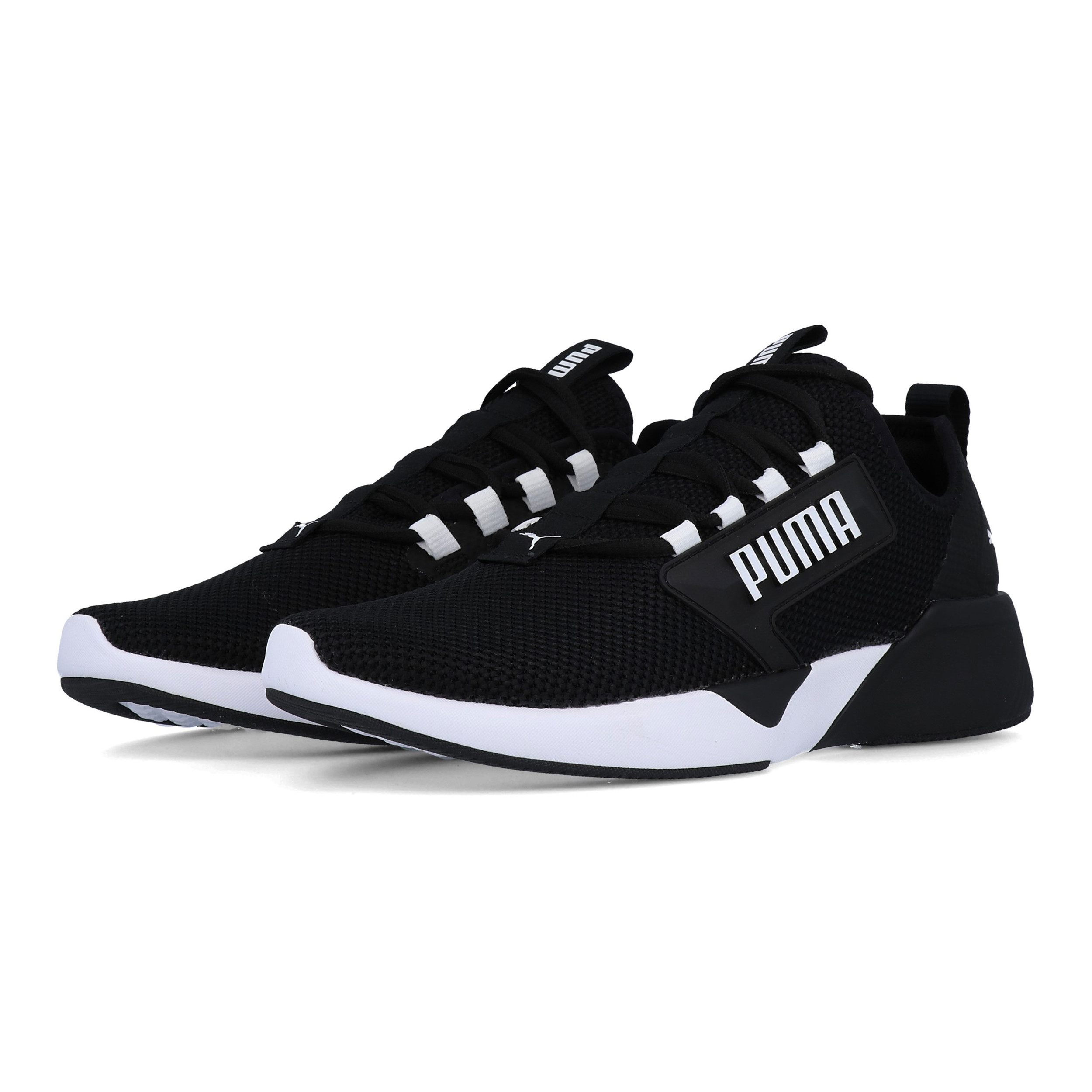 aa55e7495 Details about Puma Mens Retaliate Training Gym Fitness Shoes Black White  Sports Running