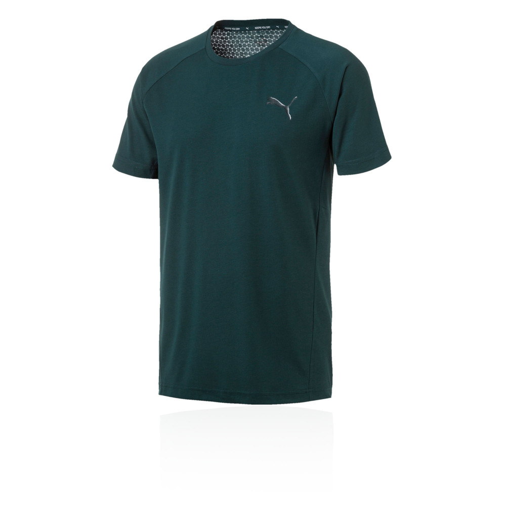 a9f29495873d Details about Puma Mens Evostripe Move Tee Green Sports Gym Breathable  Lightweight