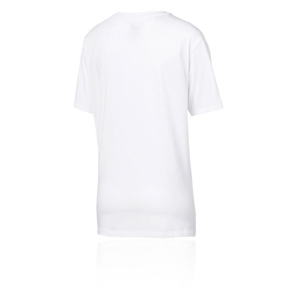 efed09d483 Details about Puma Womens Essentials Boyfriend Logo Tee White Sports Gym  Breathable