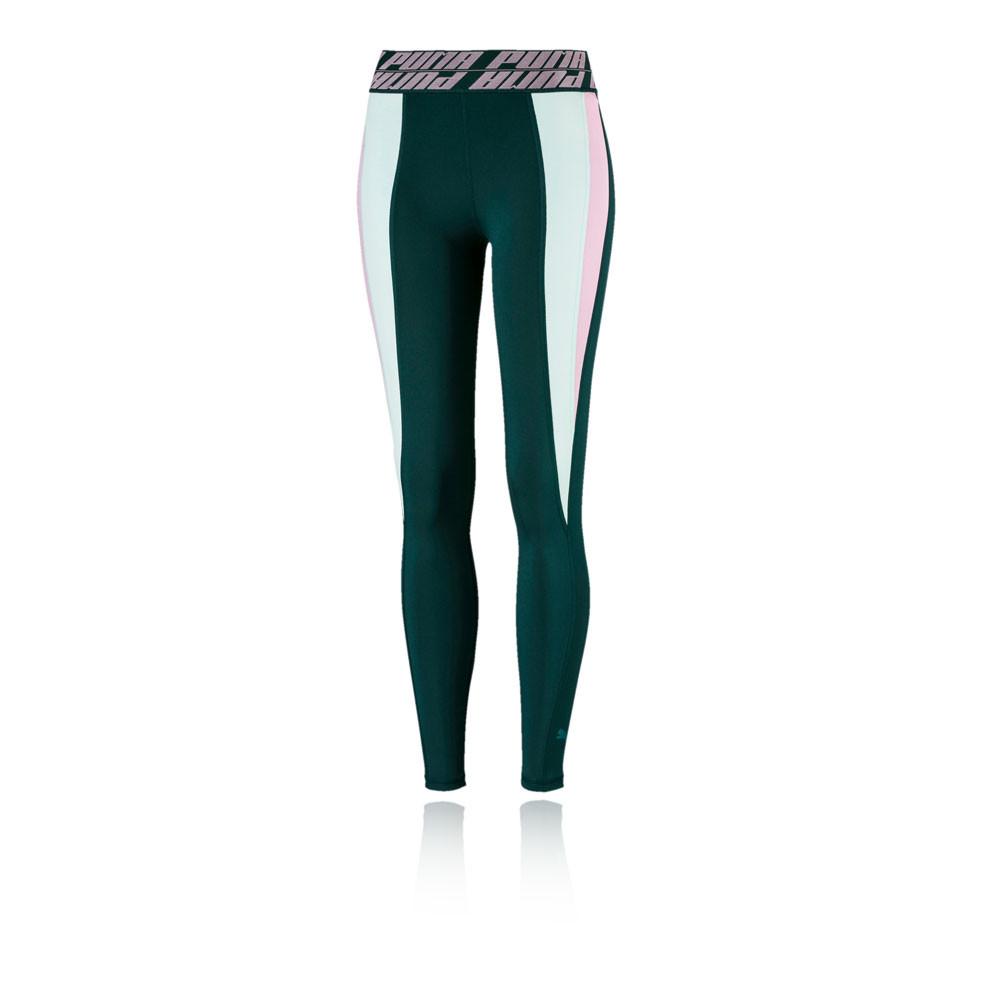 Détails sur Puma Femmes Own It Full Collant Gym Fitness Leggings Vert Sport Jogging Running