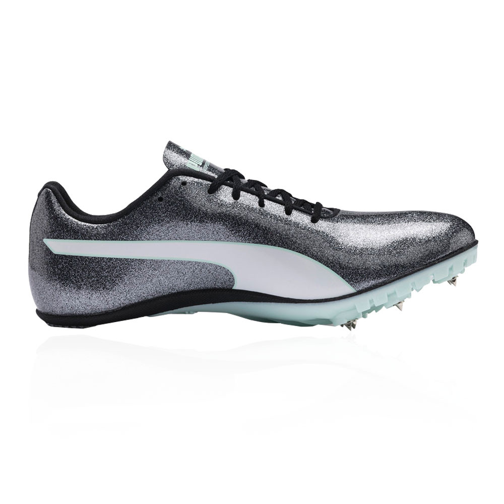 62df2e5b2bb2 Puma Womens evoSPEED Sprint 9 Running Spikes Traction Silver Sports  Lightweight