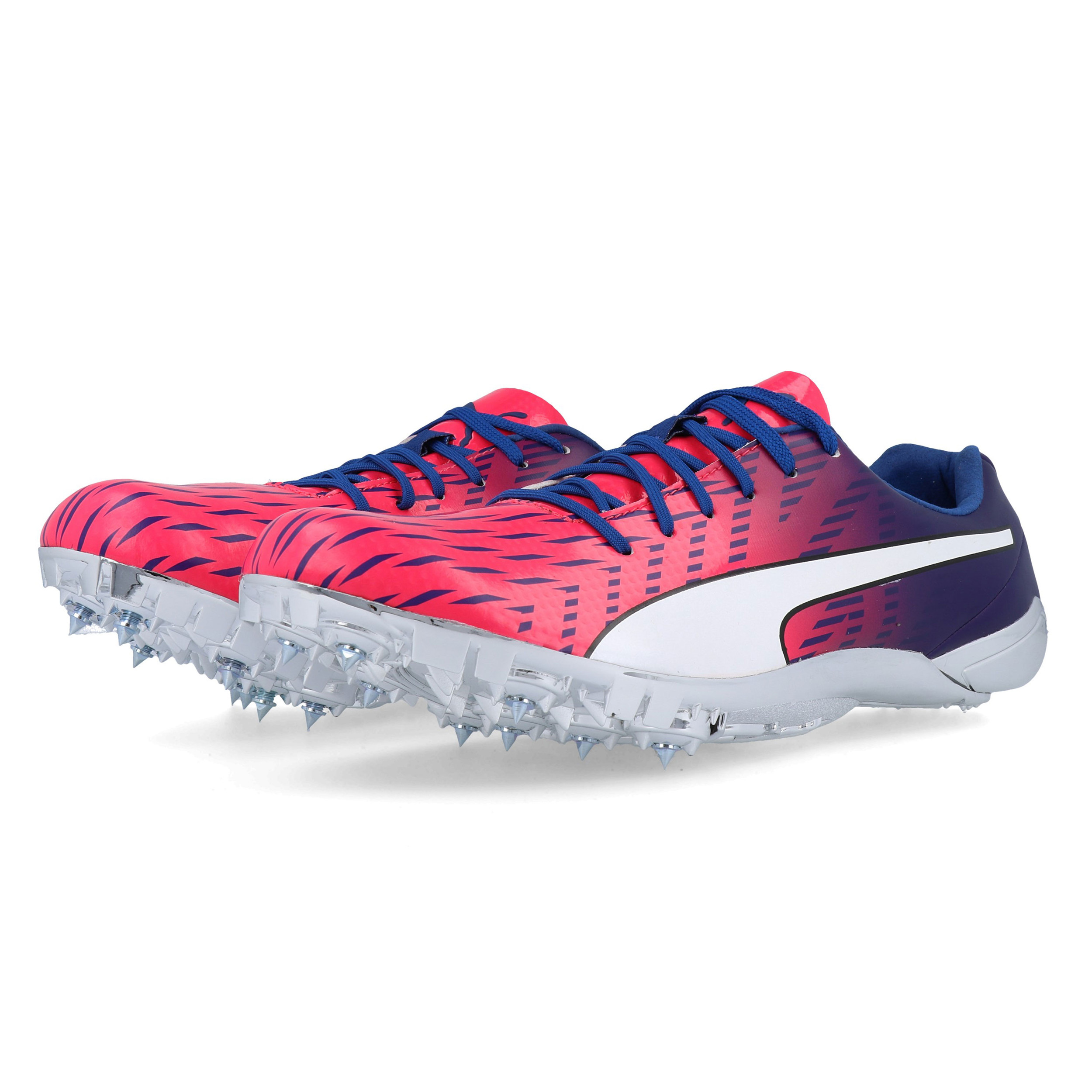 Details about Puma Mens EvoSPEED Electric 5 Running Trainers Sneakers Traction Blue Pink