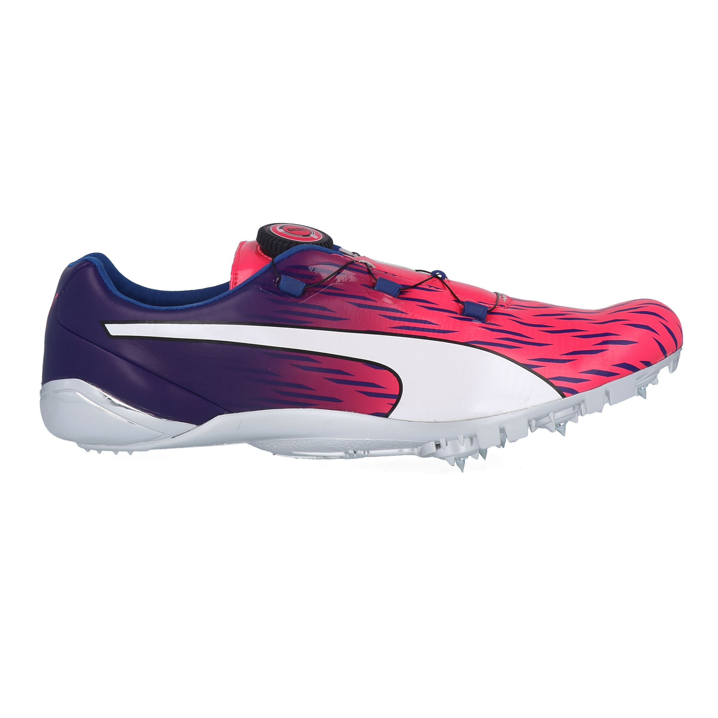 Details about Puma Mens EvoSPEED Disc 3 Running Spikes Traction Purple Red  Sports Breathable