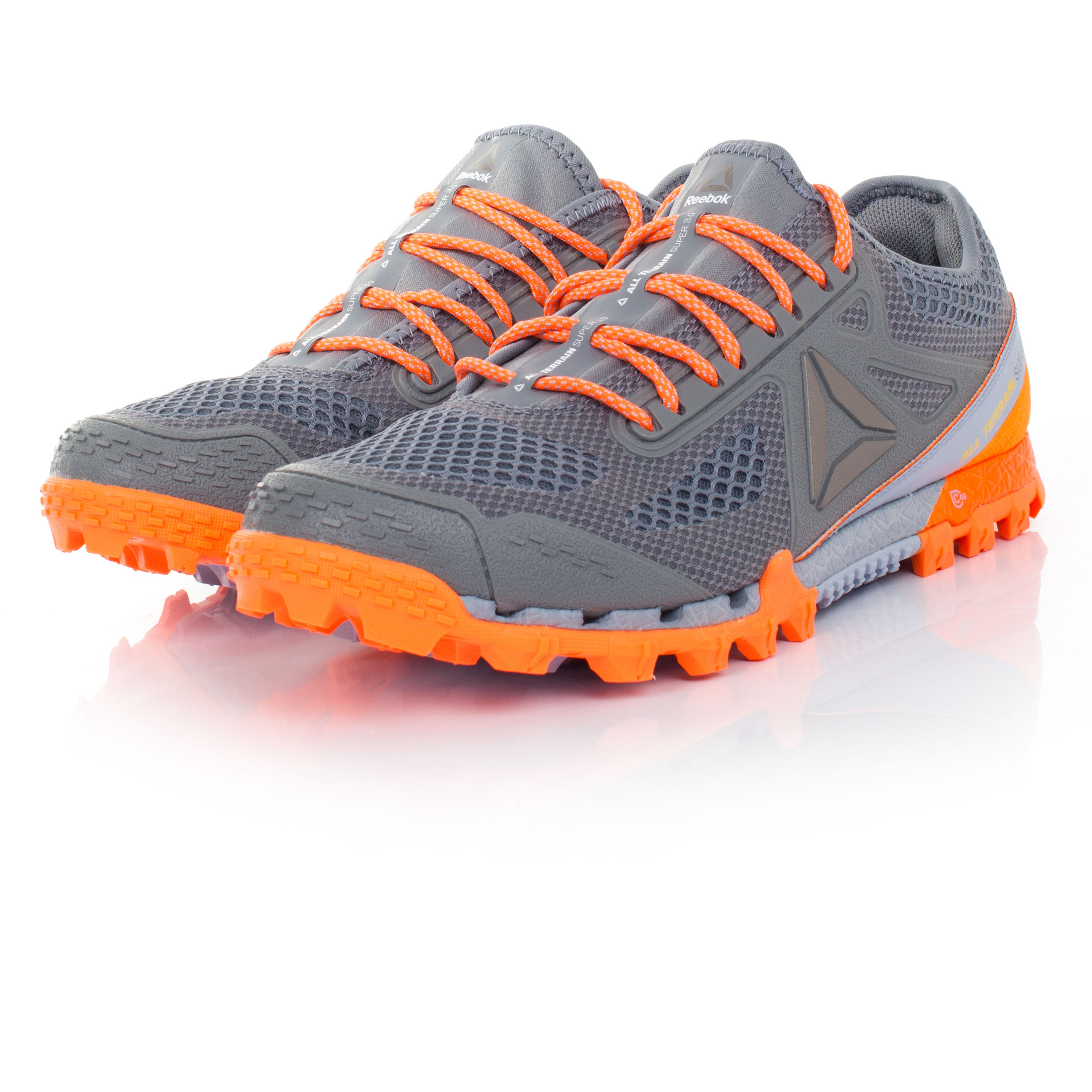 Details about Reebok All Terrain Super 3.0 Mens Grey Trail Running Road  Sports Shoes Trainers 3beb308de