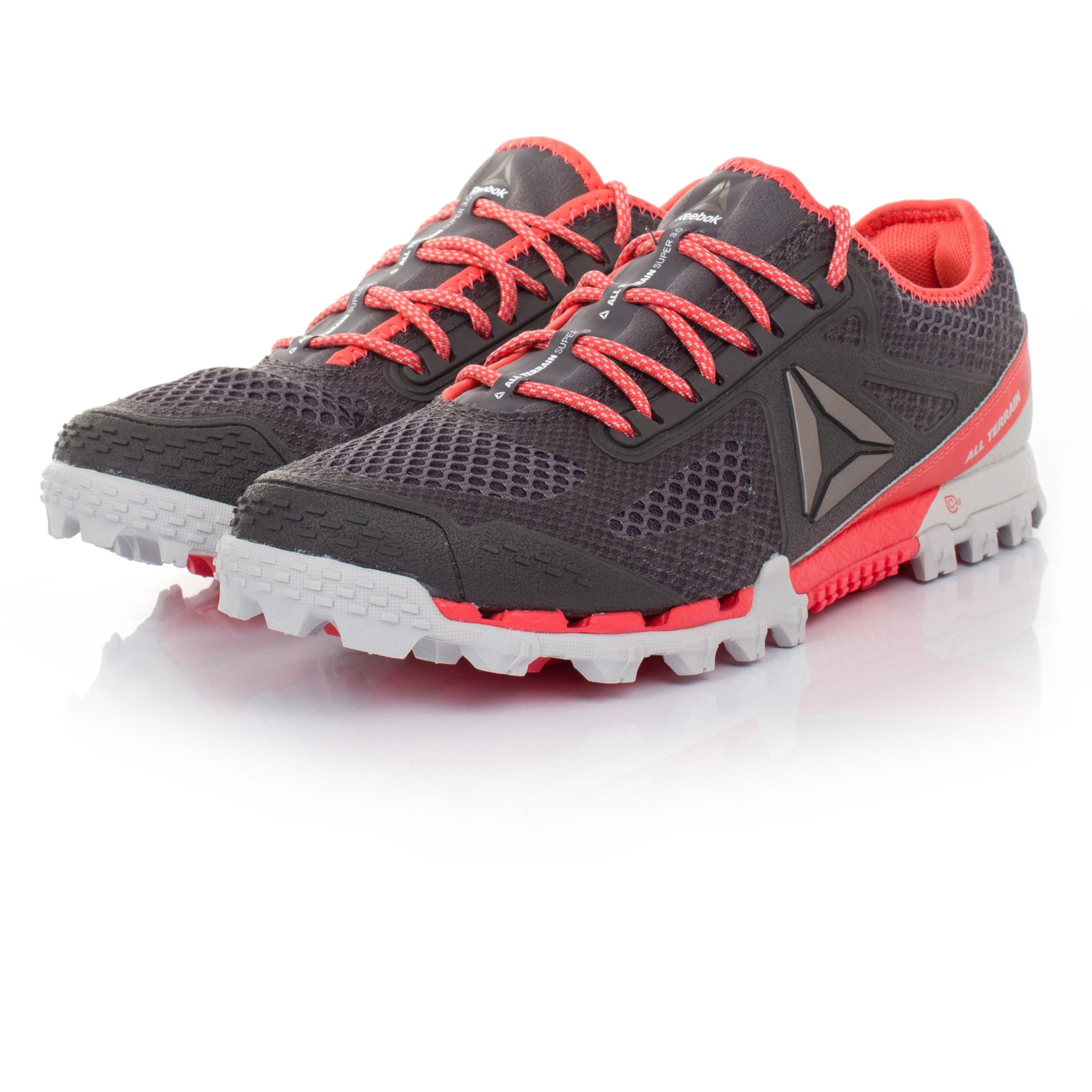 Purple And Black Reebok Running Shoes