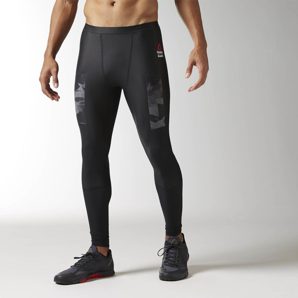 e10fdd840 Image is loading Reebok-CrossFit-Mens-Black-Compression-Running -Fitness-Long-