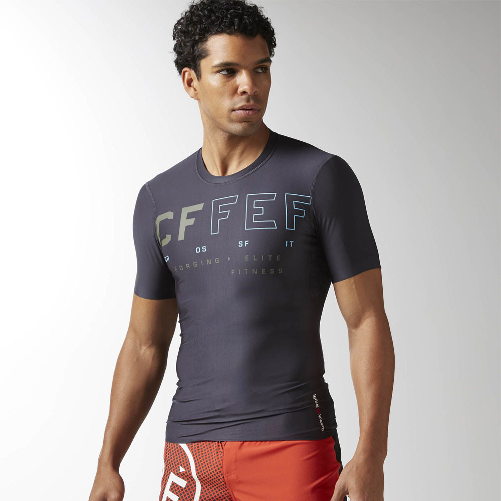 Reebok crossfit compression t shirt ss17 for Crossfit open t shirt