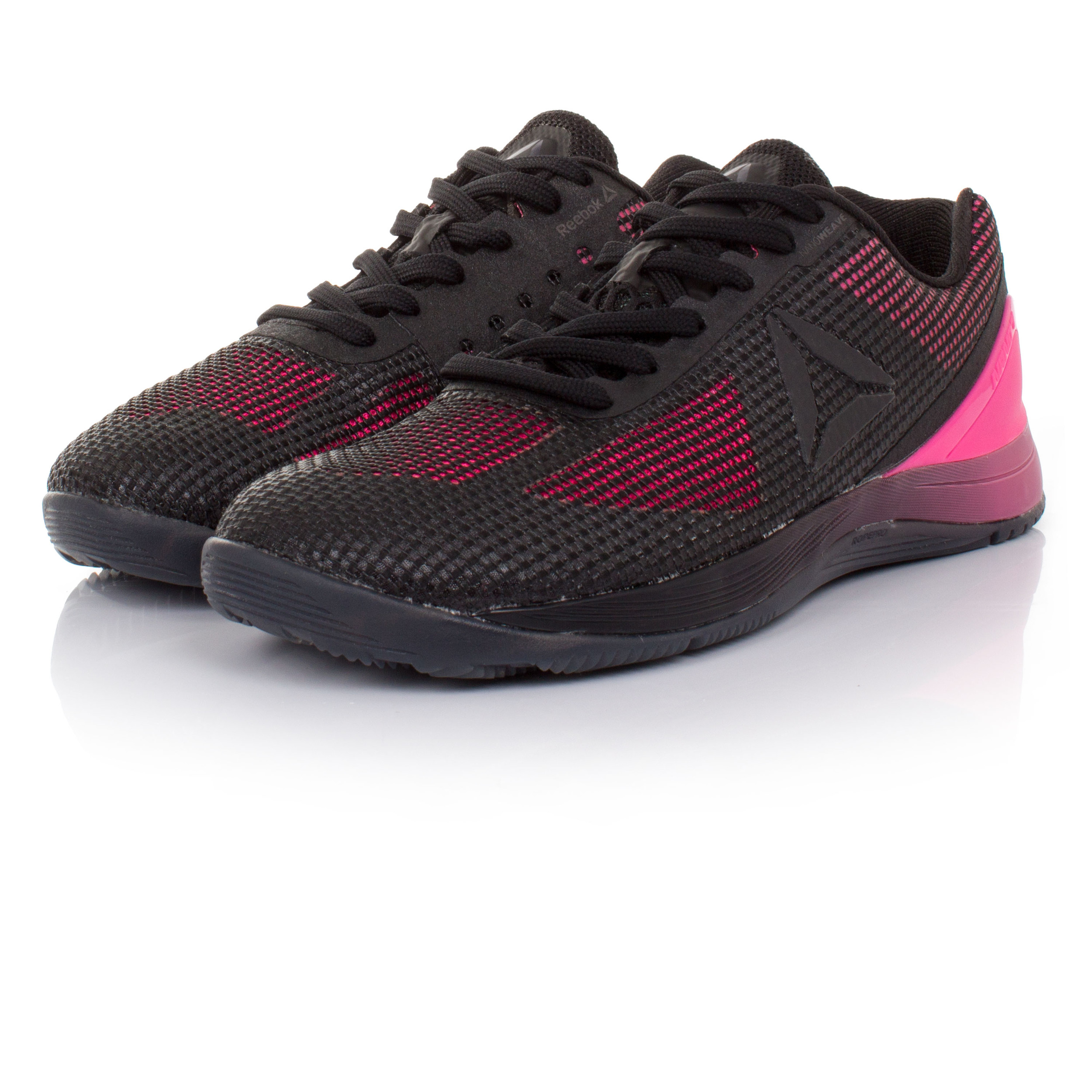 reebok crossfit nano 7 womens pink black cross training gym shoes trainers pumps ebay. Black Bedroom Furniture Sets. Home Design Ideas