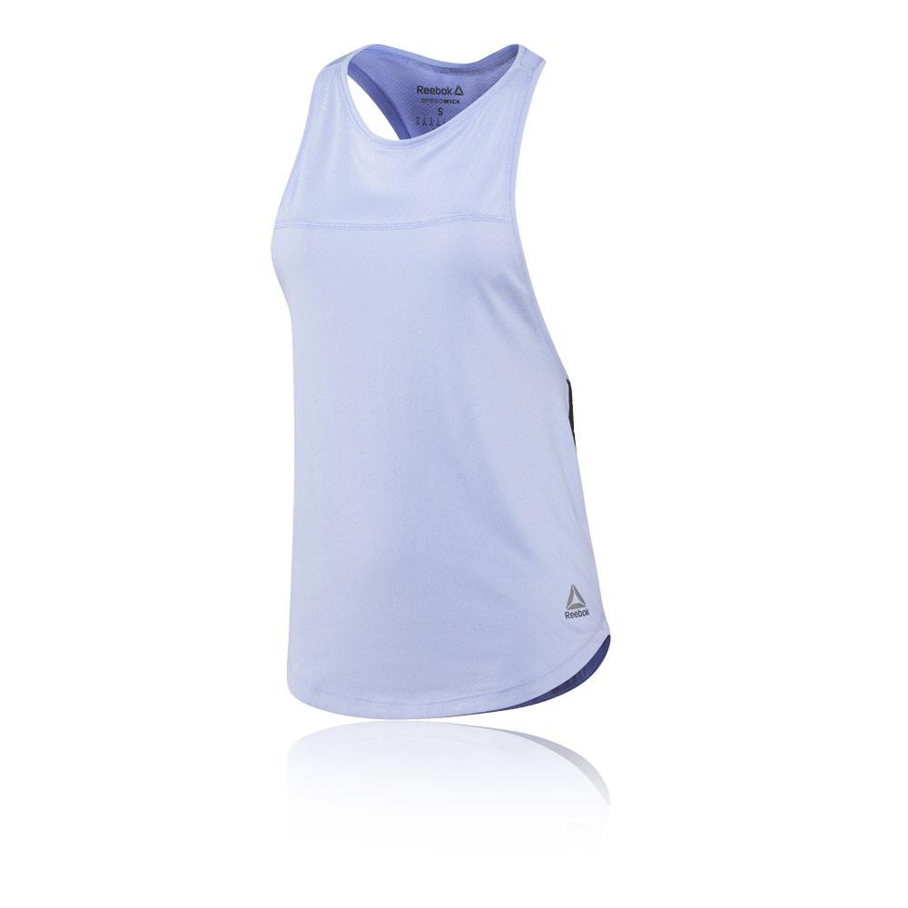 6304c510 Reebok Cotton Muscle Womens Purple Sleeveless Running Vest Tank Top Singlet