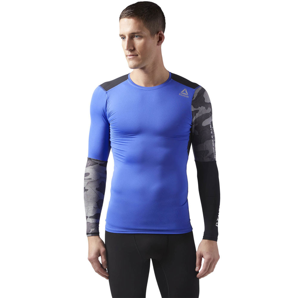 36852ff4 Reebok ActiveChill Graphic Long Sleeve Compression Tee - SS18