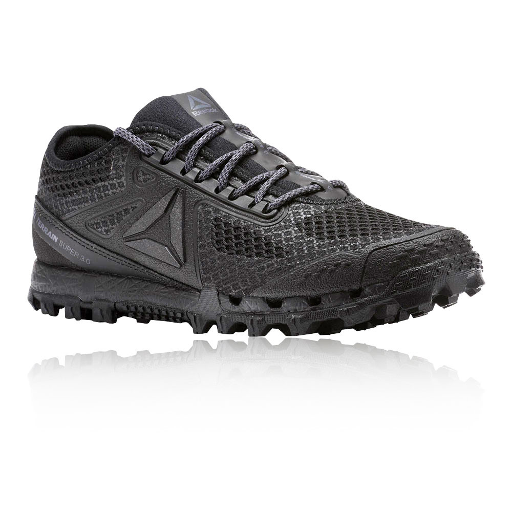 c294b429cf6f Details about Reebok Womens All Terrain Super 3.0 Stealth Running Shoe  Black Grey Trainers