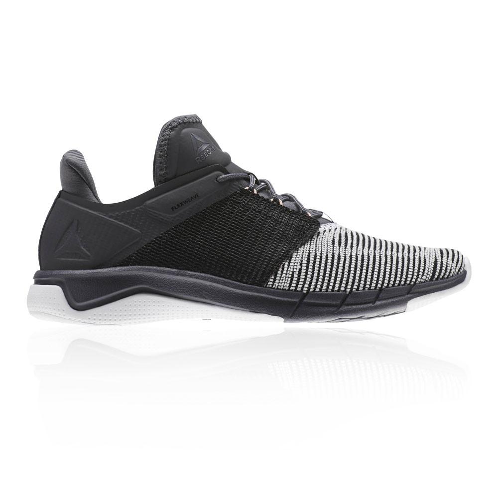 5b46142c471ac0 Reebok Womens Fast Flexweave Running Shoes Trainers Sneakers Black Grey  White